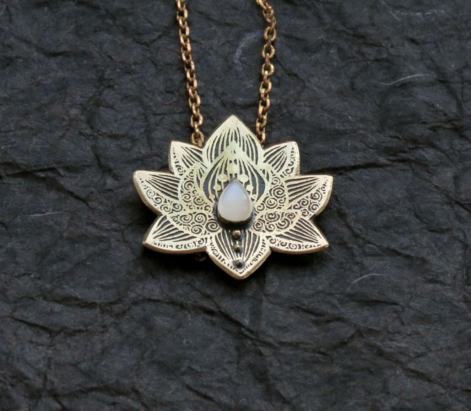 Lotus pendant water lily necklace silver flower necklace lotus pendant water lily necklace silver flower necklace moonstone necklace heart chakra necklace mozeypictures Images