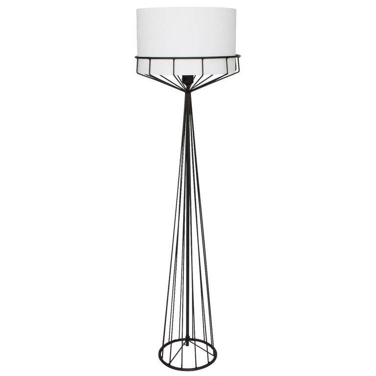 Wire standard lamp wire center tony paul black iron wire frame floor lamp floor lamp iron and lights rh pinterest com greentooth Gallery