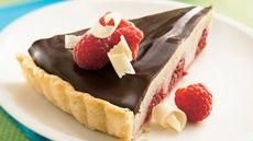 White and Dark Chocolate Raspberry Tart  I made this at FH it was very very good