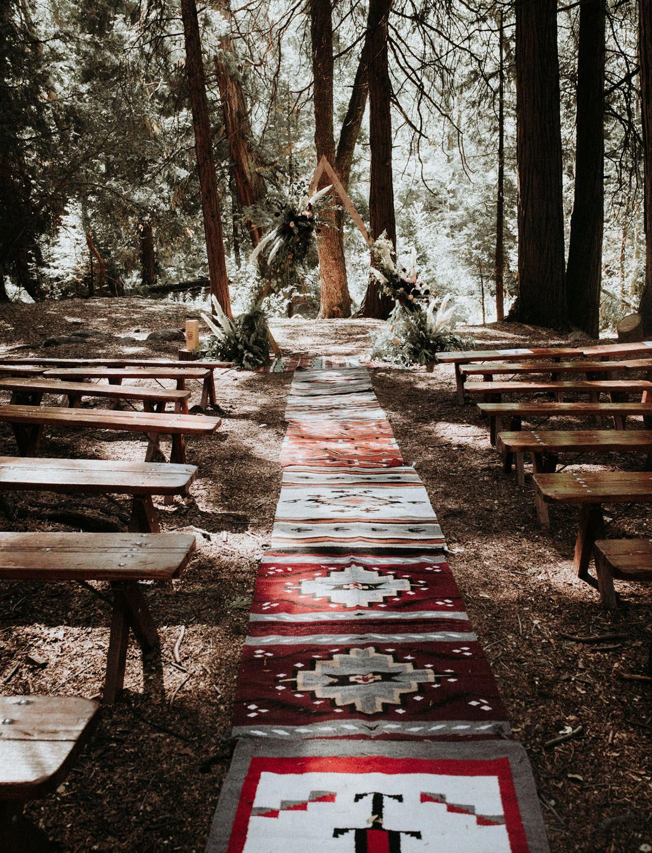 This Summer Camp-Themed Wedding in the Woods of Big Bear ...