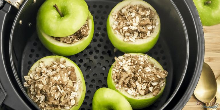 Air Fryer Oatmeal Stuffed Baked Apples Recipe Baked