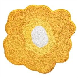 Yellow Poppy Bath Rug by Interdesign