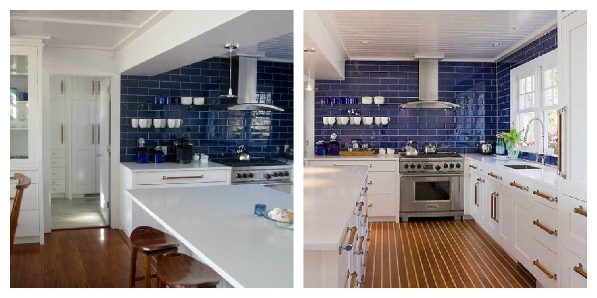 blue and white kitchen tiles navy