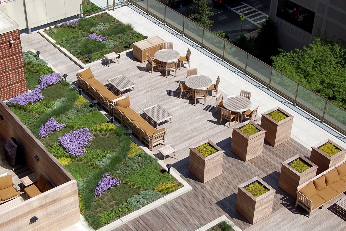 Eight Residential Buildings With Amazing Roof Decks Roof Architecture Green Roof Residential Building