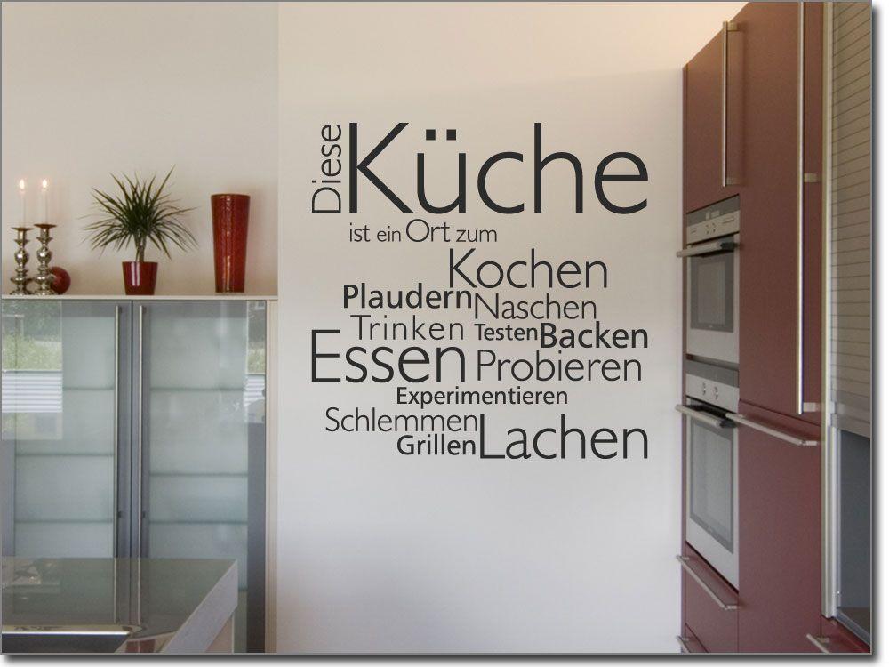 Wandtattoo Diese Küche | Wandtattoo, Küche und Wortwolken