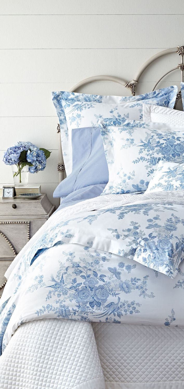 Ralph Lauren Coastal Bedrooms Bed Linens Luxury Blue