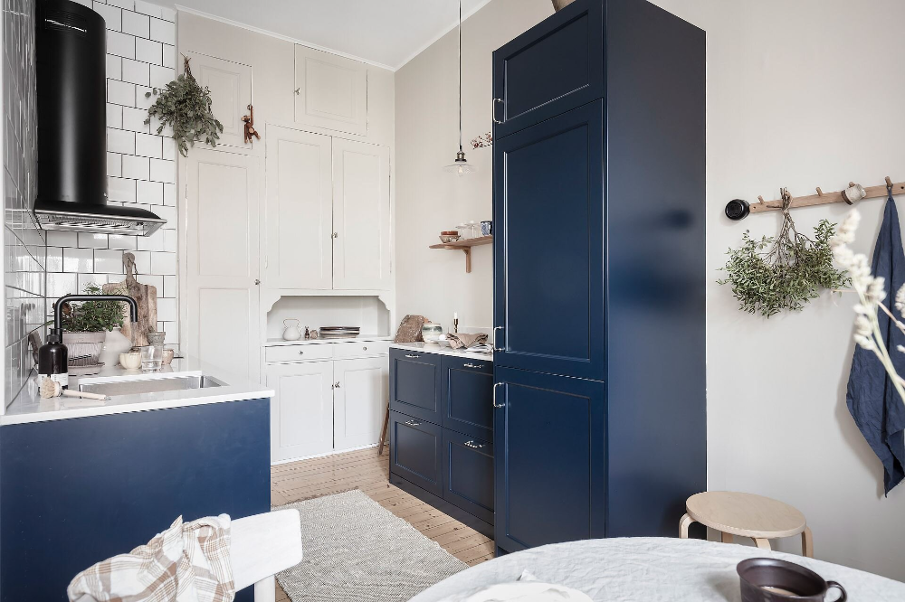 Blue and Grey Tones in a Wonderful Scandinavian Apartment — THE NORDROOM in 2021   Scandinavian ...