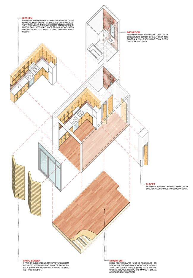 Timber in the city competition entry by samuel pitnick - Best way to soundproof interior walls ...