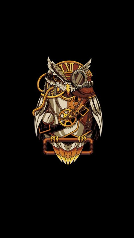 Clock Owl iPhone Wallpaper Free GetintoPik in 2020