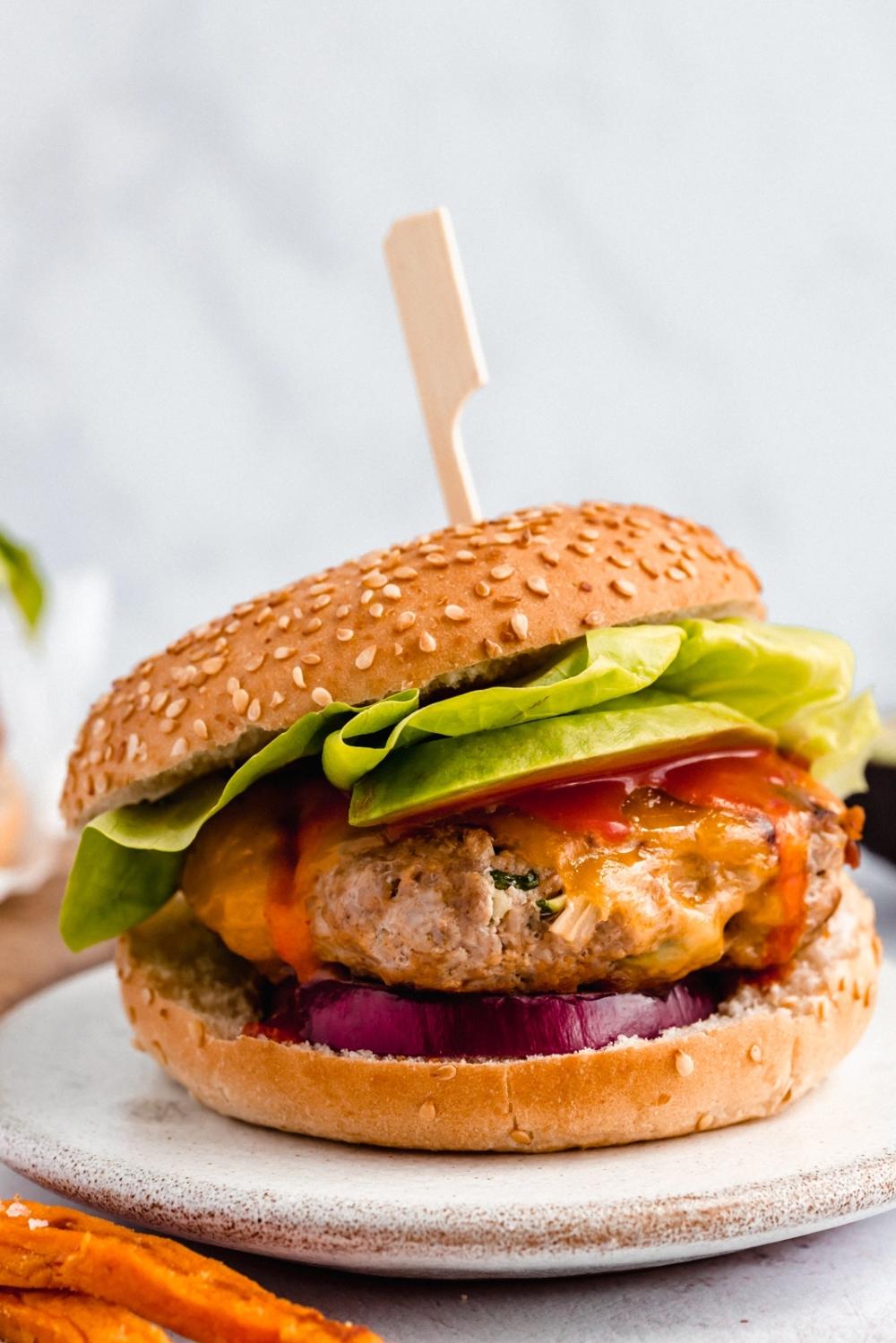 Buffalo Zucchini Chicken Burgers Ambitious Kitchen Recipe Chicken Burgers Grilled Sweet Potato Fries Zucchini