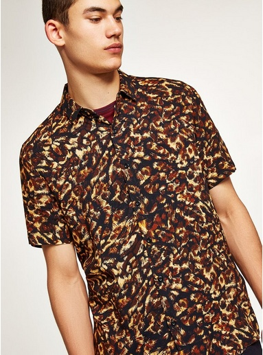 56556c4e Leopard Print Classic Shirt in 2019 | Products | Formal shirts for men,  Leopard print shorts, Formal shirts