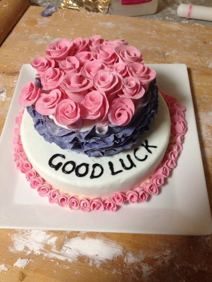 A Quick Good Bye And Good Luck Cake With Images Cake Desserts