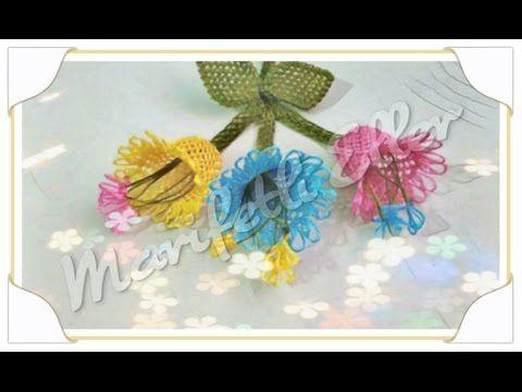 İğne Oyası Çan Çiçeği Yapılışı - YouTube | İğne oyası | Pinterest