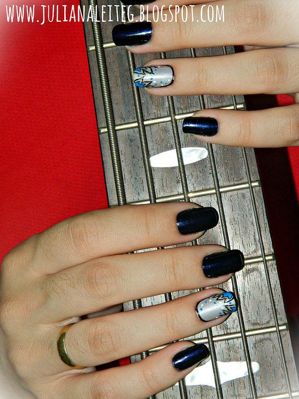 juliana leite unhas dia do rock nail art unhas decoradas avon risqué