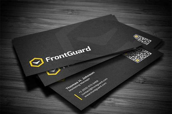Creative black corporate business card template with high detailed ...