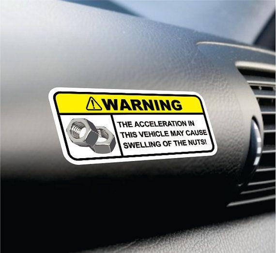 Warning JDM Style Sticker Parts Fun Sticker Decal Sticker bomb Decal