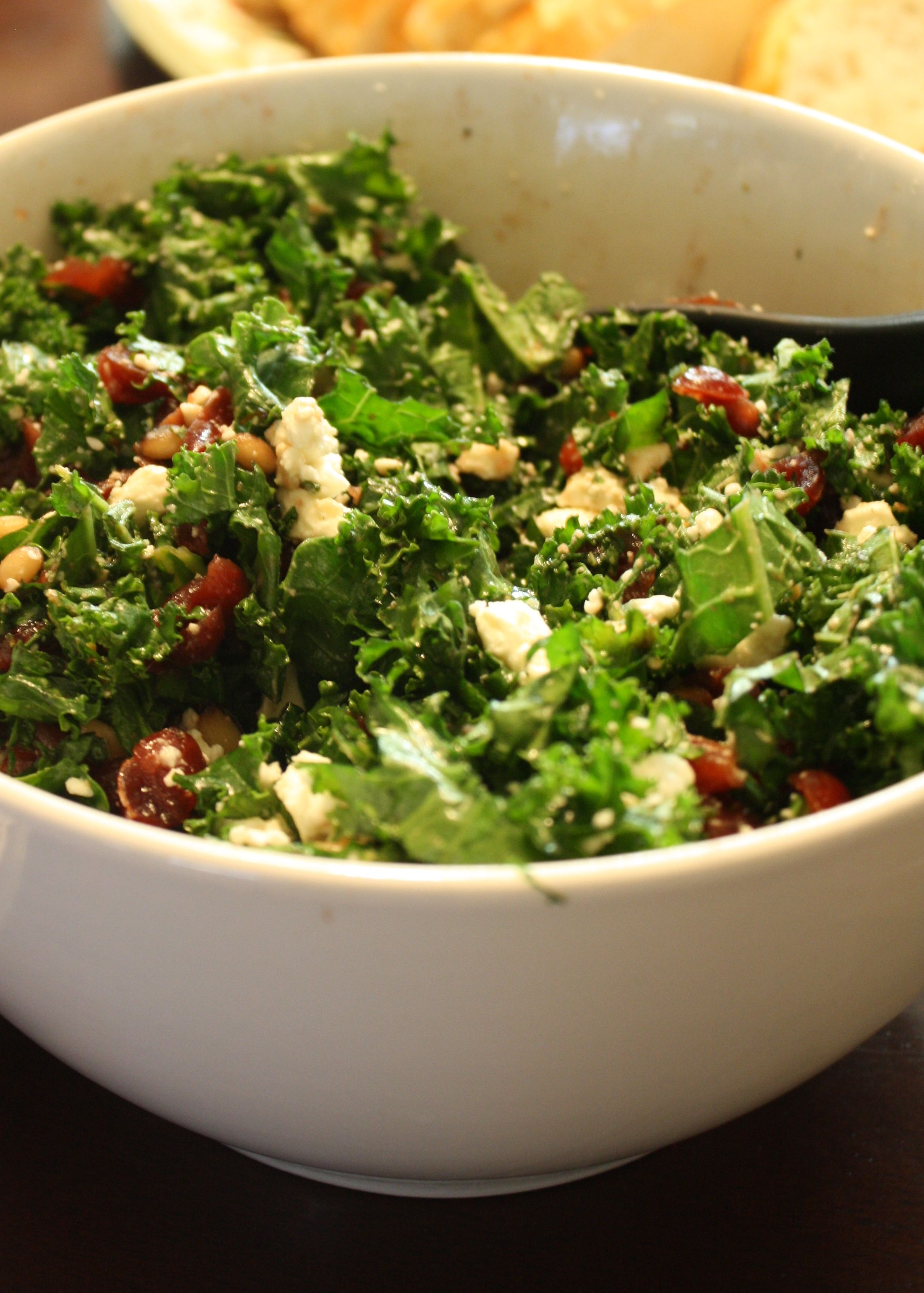 Whole Foods Kale Salad With Cranberries And Pine Nuts