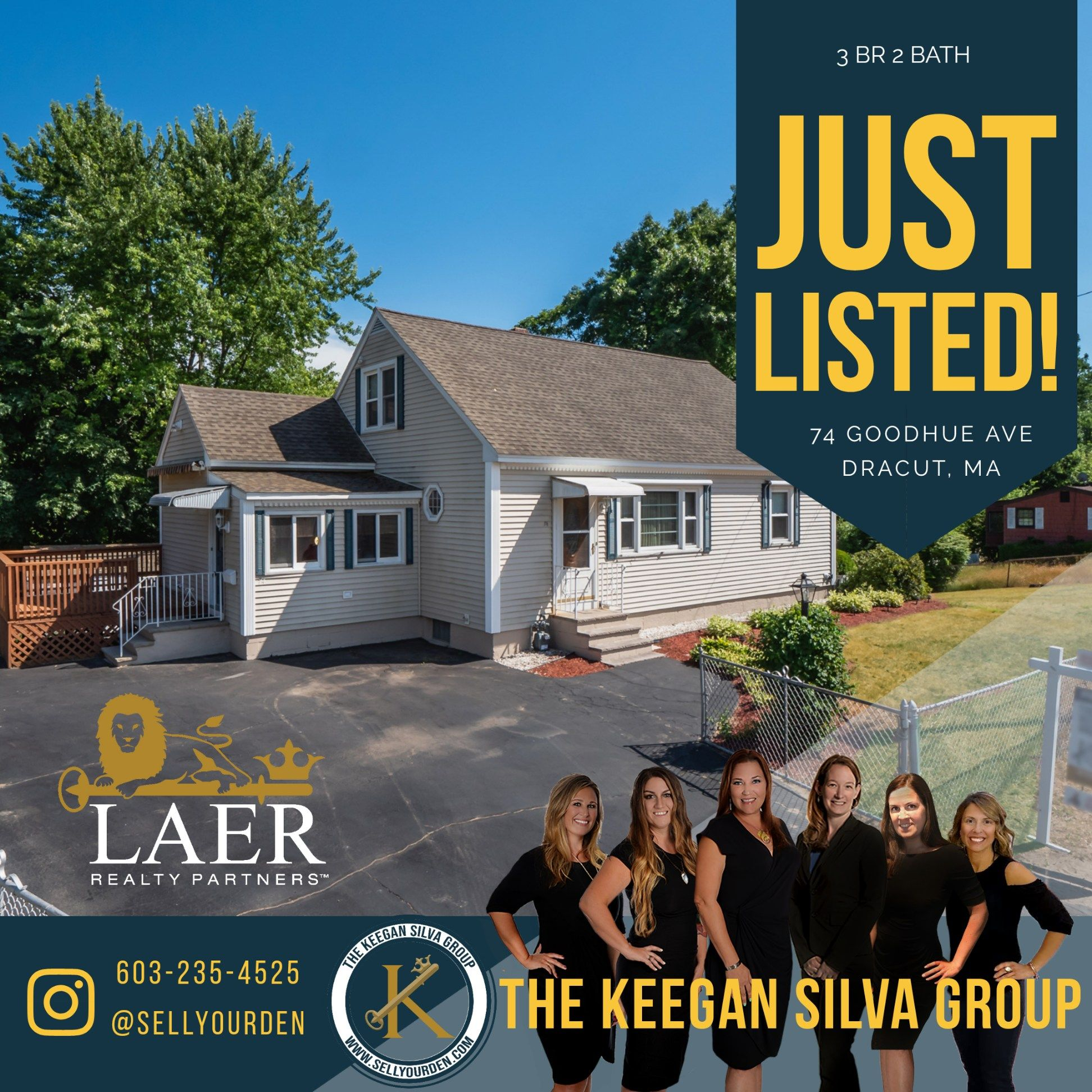 💥Just listed!💥 This Dracut three bedroom home is now available with two full baths, over a 1/4 acre lot and so much more! Reach out for mor info! $334,900 #Realtor #RealEstate #Dracut #JustListed #TheKeeganSilvaGroup #SilverKeyHomes #LaerRealty #home #marketingexperts