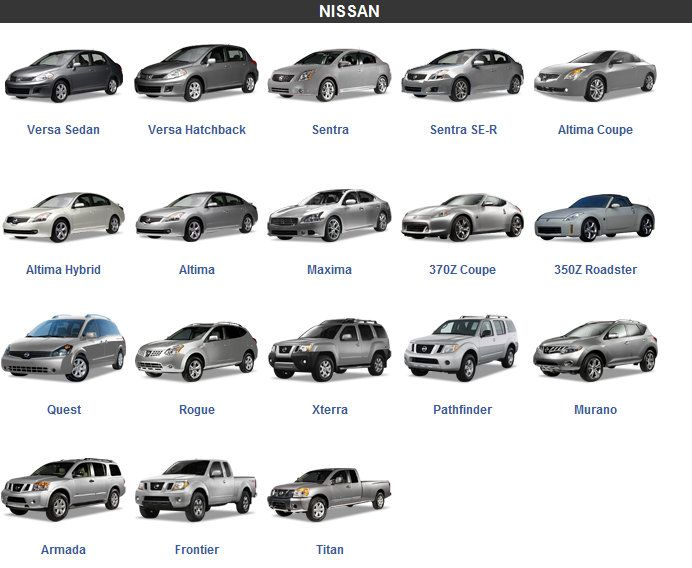 Nissan car models  CARS  Pinterest  Models Nissan and Cars