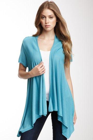 Chaus Short Sleeve Silk Blend Cardigan on HauteLook