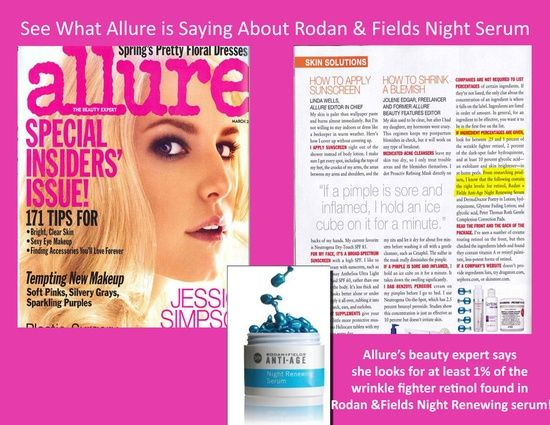 See what ALLURE is saying about Rodan + Fields!!! **** (Anywhere in the USA) Want more Information?