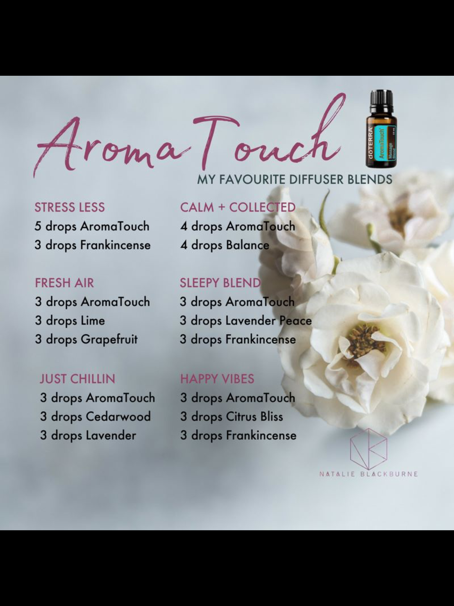 Aroma Touch Diffuser Blends With Images Essential Oil Diffuser