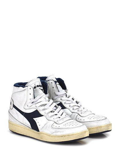 Diadora Heritage white lace up sneaker vintage
