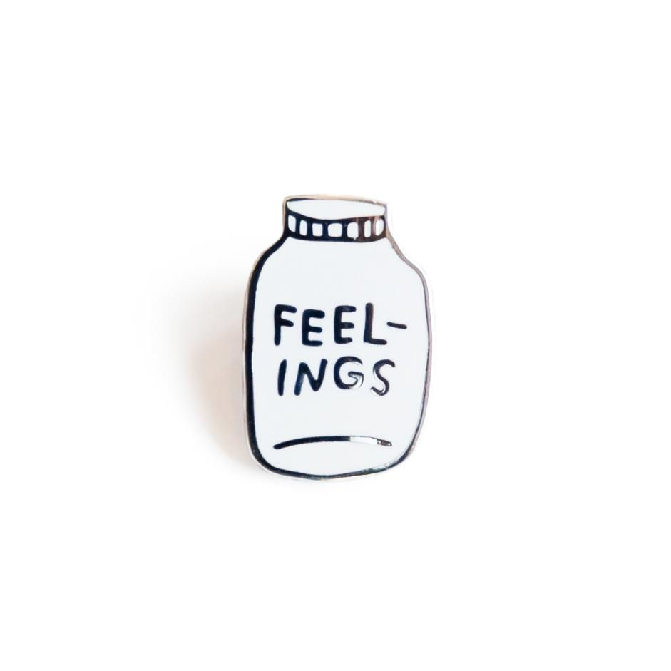 Feelings, Hard Enamel Pin, Custom