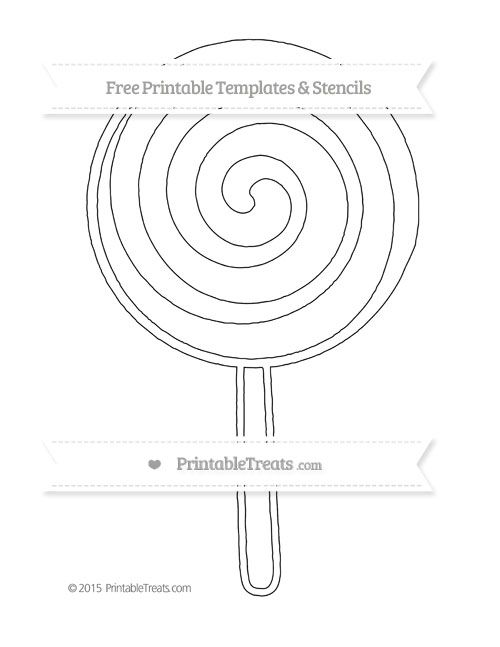 image about Lollipop Template Printable titled No cost Printable Additional Significant Swirly Lollipop Stencil Styles