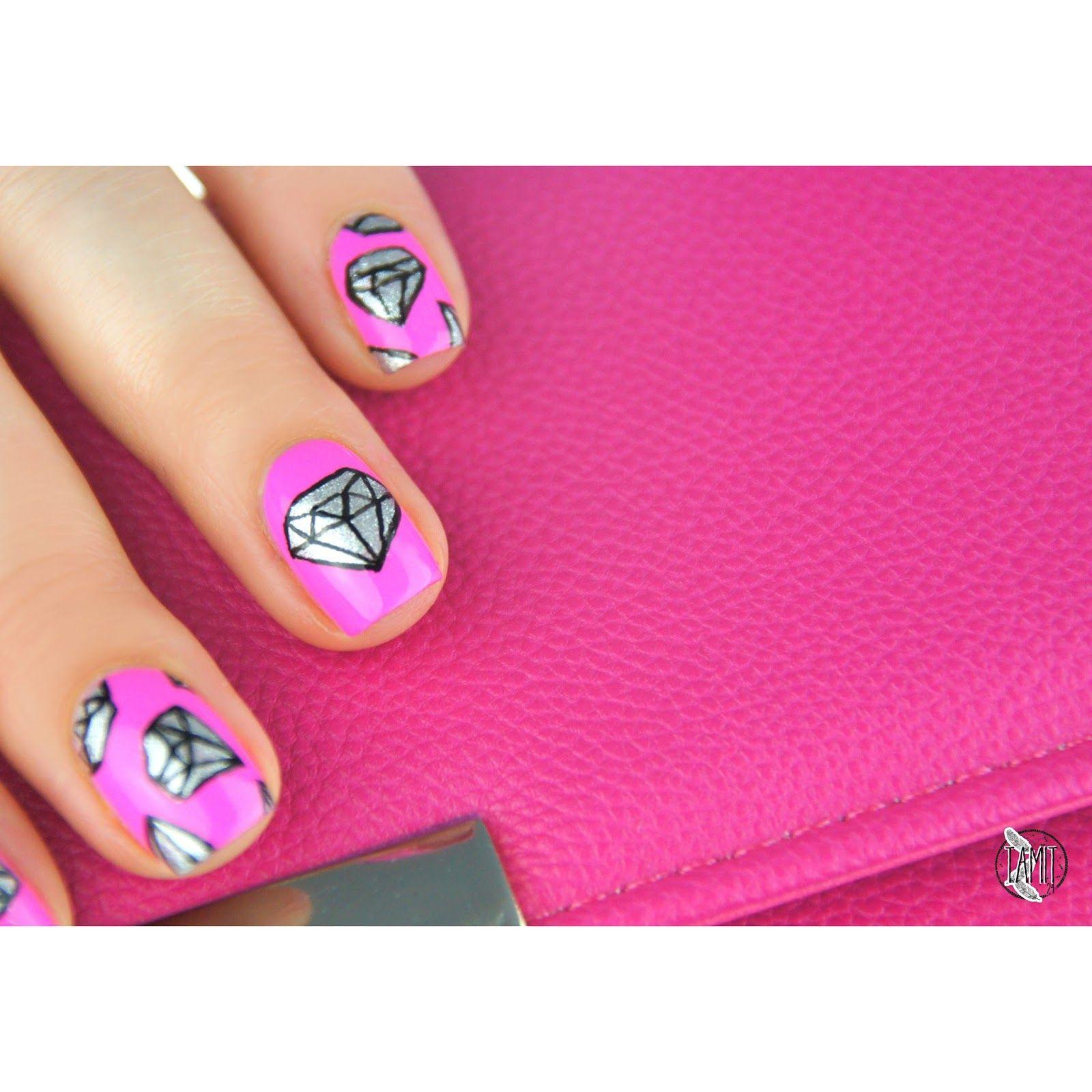 fall in ...naiLove!: Diamond nails: tutorial.   Orly Fancy Fuchsia ...