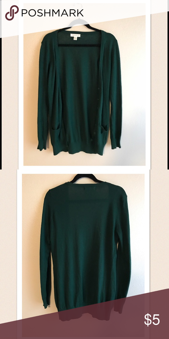 Forest Green Cardigan Lightweight and very soft. Easy to throw on with just about anything! Like new condition. Forever 21 Sweaters Cardigans