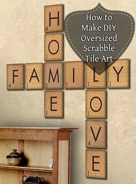 LARGE GIANT BIG OVERSIZED SHABBY CHIC SCRABBLE LETTERS TILES RUSTIC SOLID WOOD Home Decor Home, Furniture & DIY