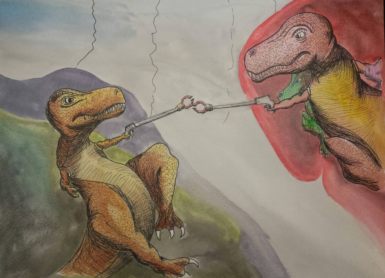 Картинки смешные про динозавров