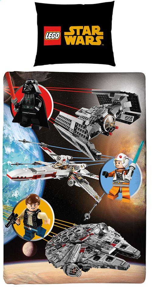 dekbedovertrek lego star wars space katoen 140 x 200 cm | knabbel
