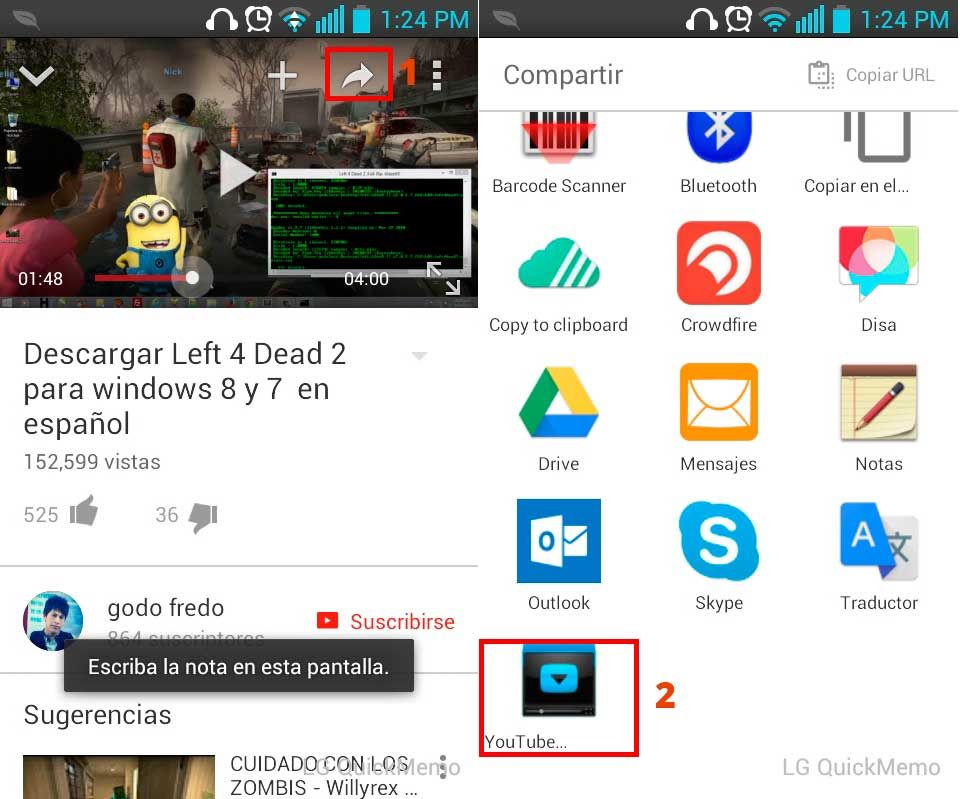 Descargar vídeo de youtube en android