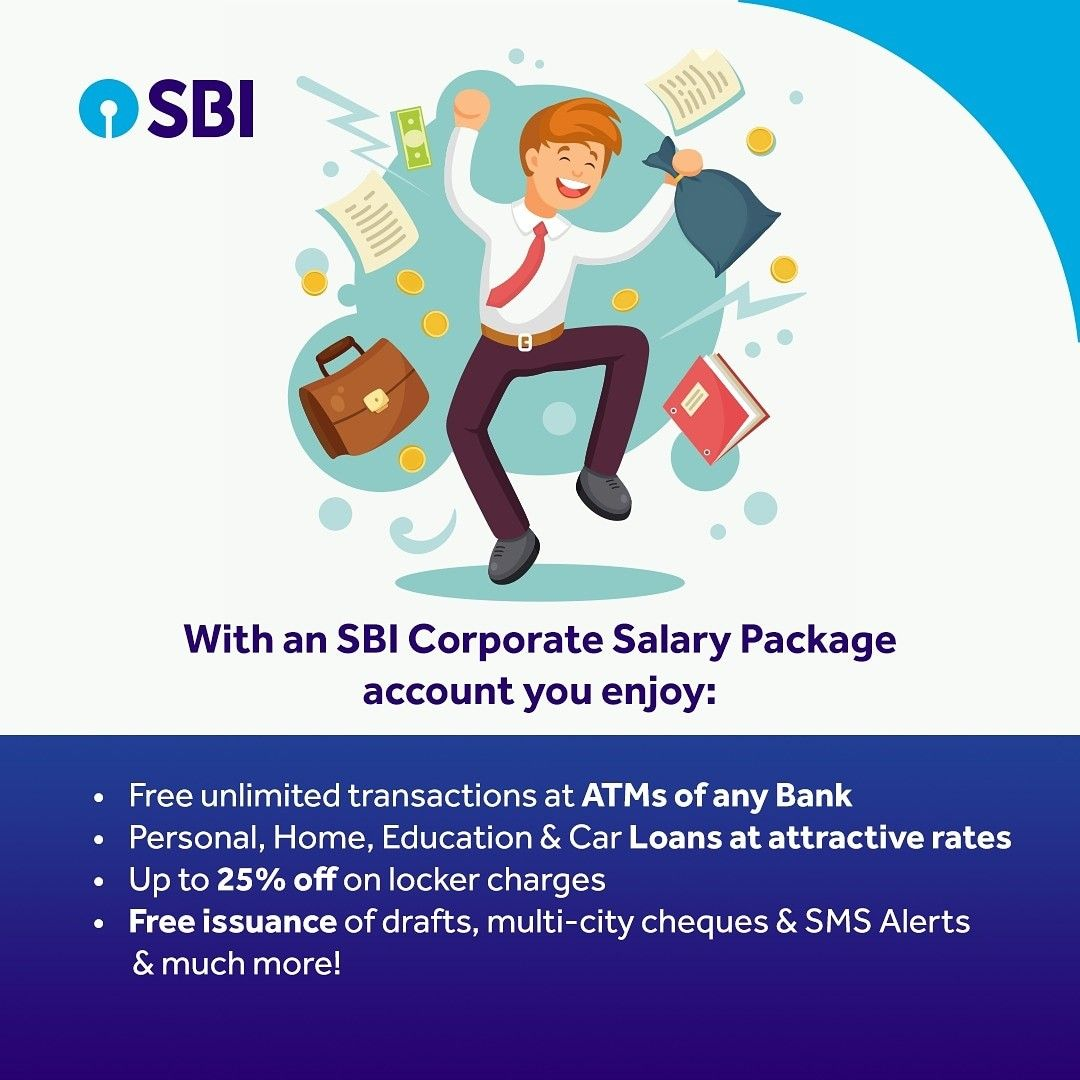 Salary Accounts under SBI Corporate Salary Package offer