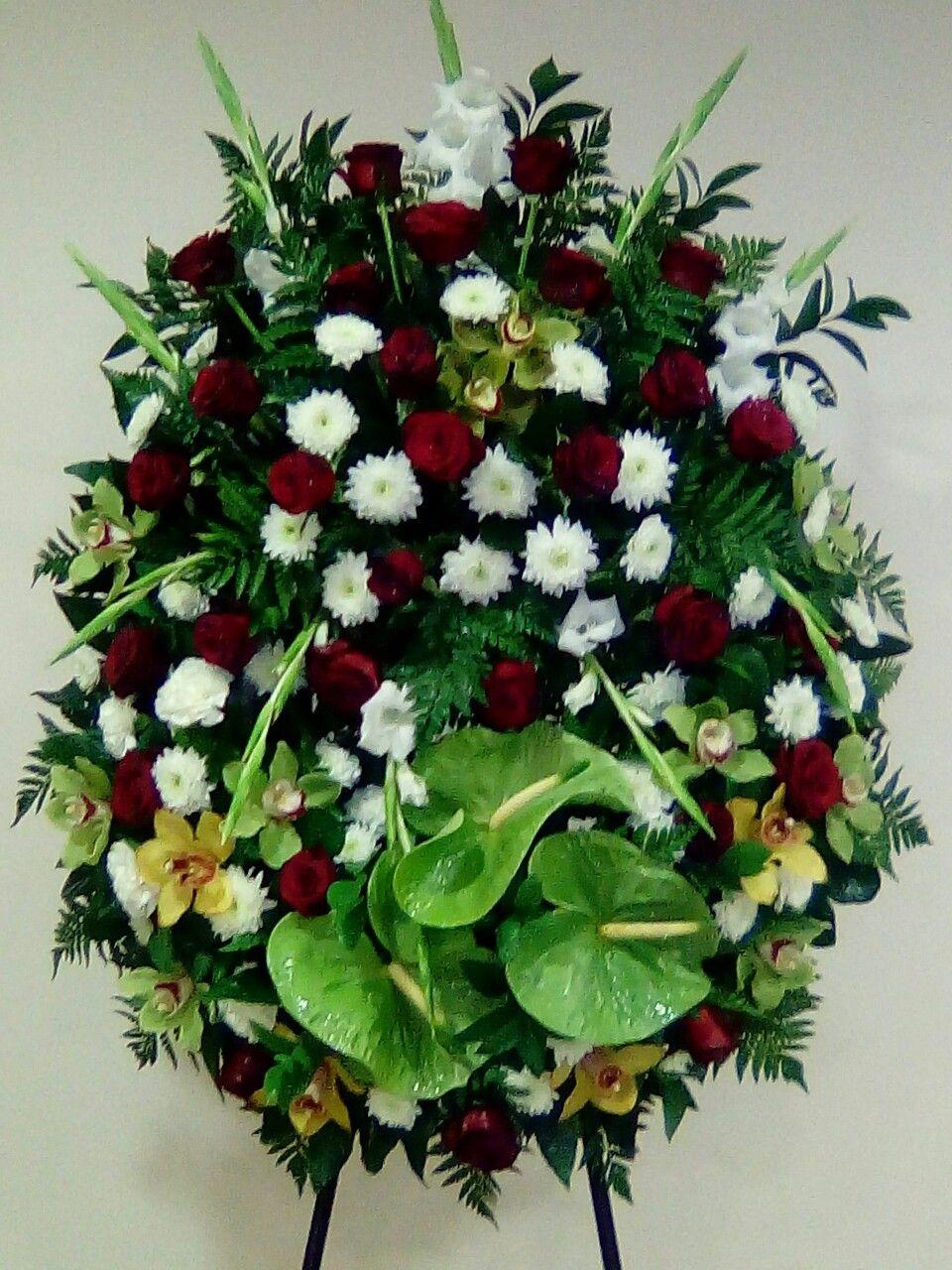 Pin by Sidka on coroas funeral Casket flowers, Flower