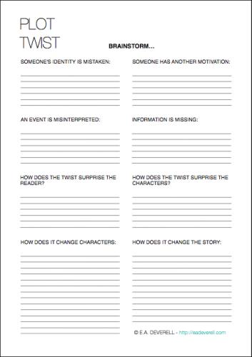 Plot Twists (Writing Worksheet Wednesday) | Ortografía, Infografía y ...