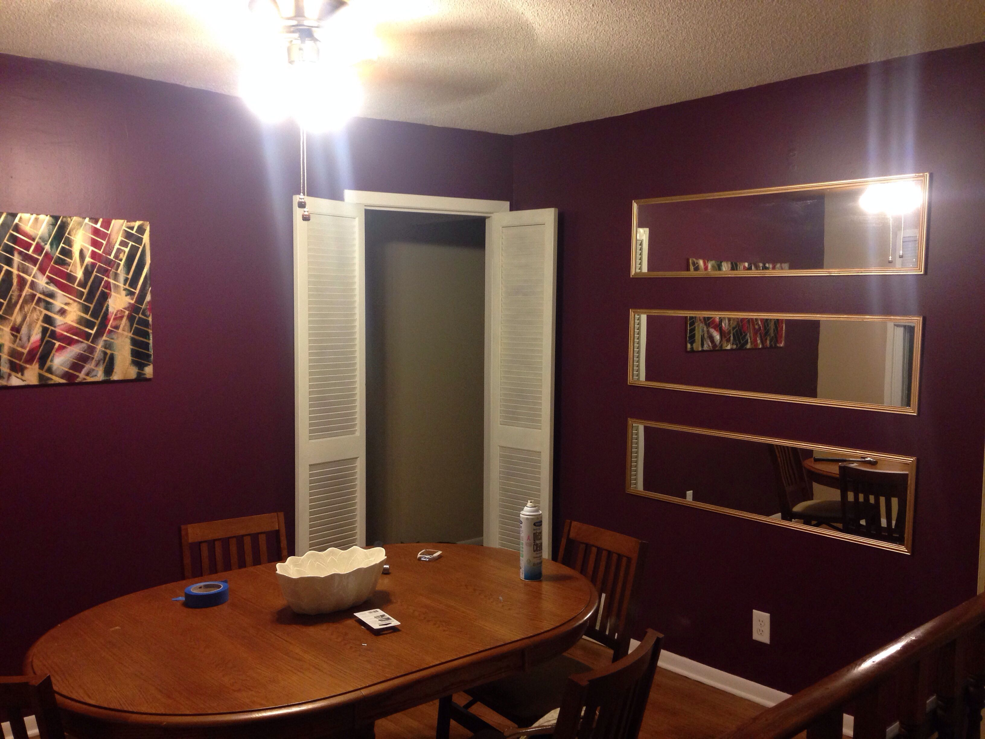 Gold And Purple Dining Room. Sherwin Williams Mature Grape