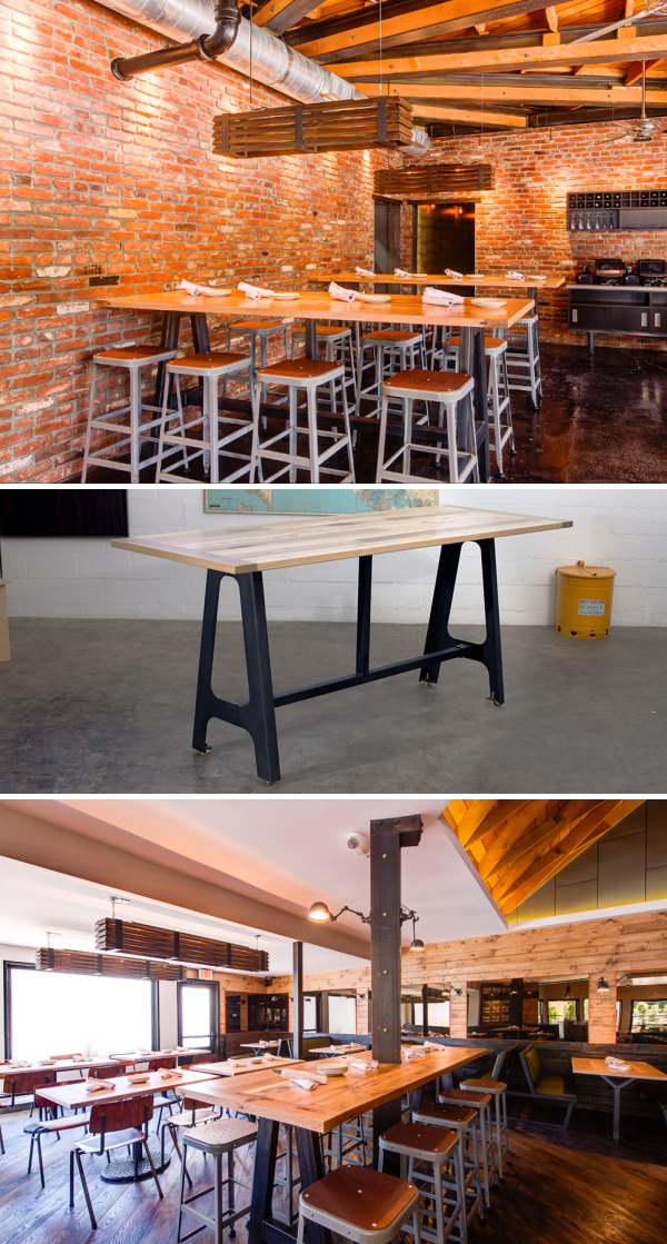 Communal Table By District Mills At Messhall Bespoke Furniture Milling Art