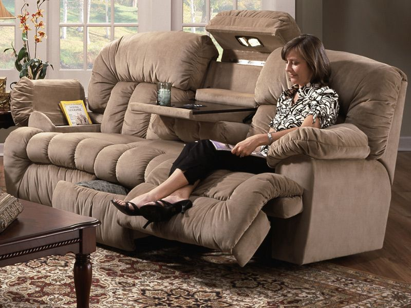 Reclining Sofa With Cooler Cupholders Lights And Massager I Would