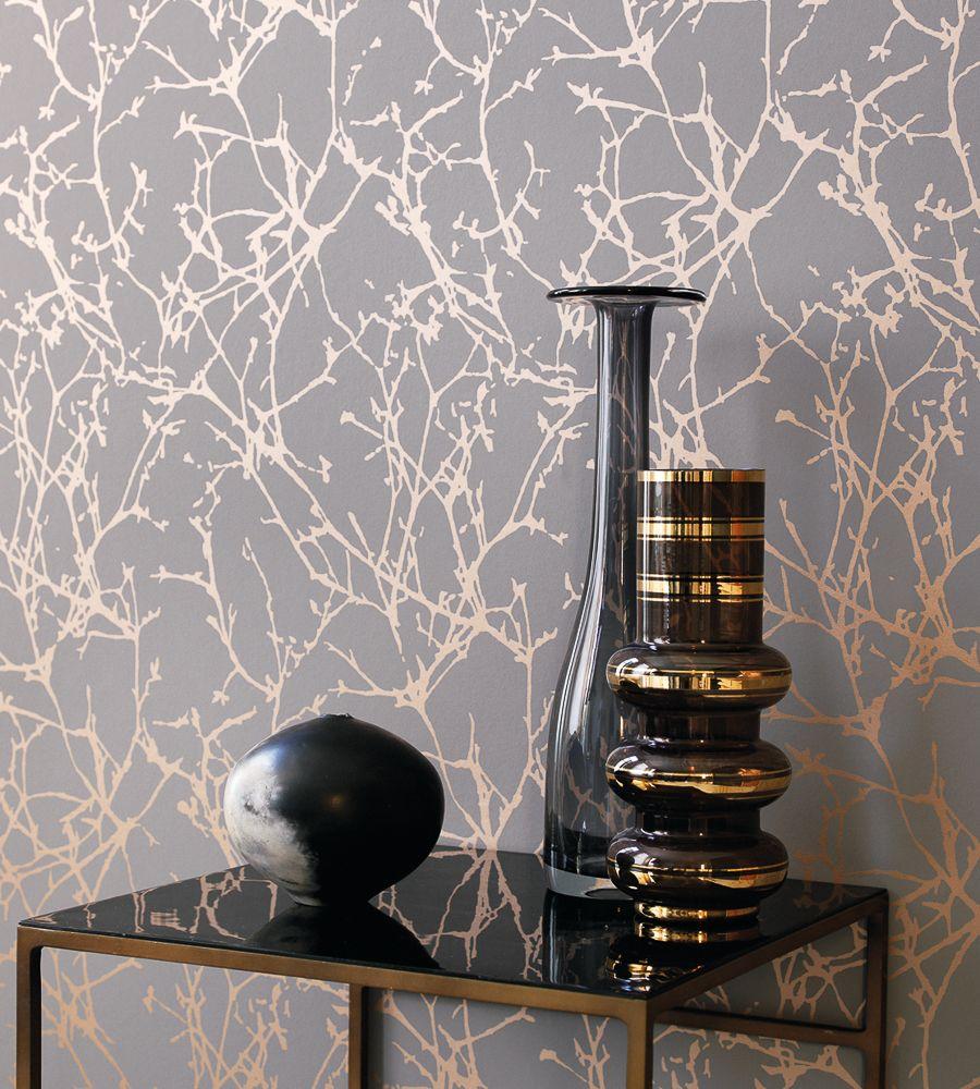 Design Classics Metallics Arbor Wallpaper By Romo Jane - Wallpaper design for living room