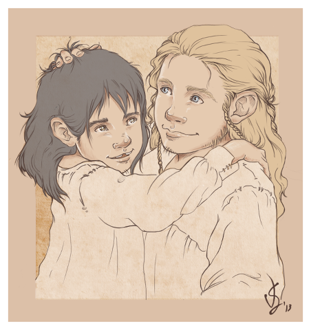 Young (and cute!!) Fíli and Kíli