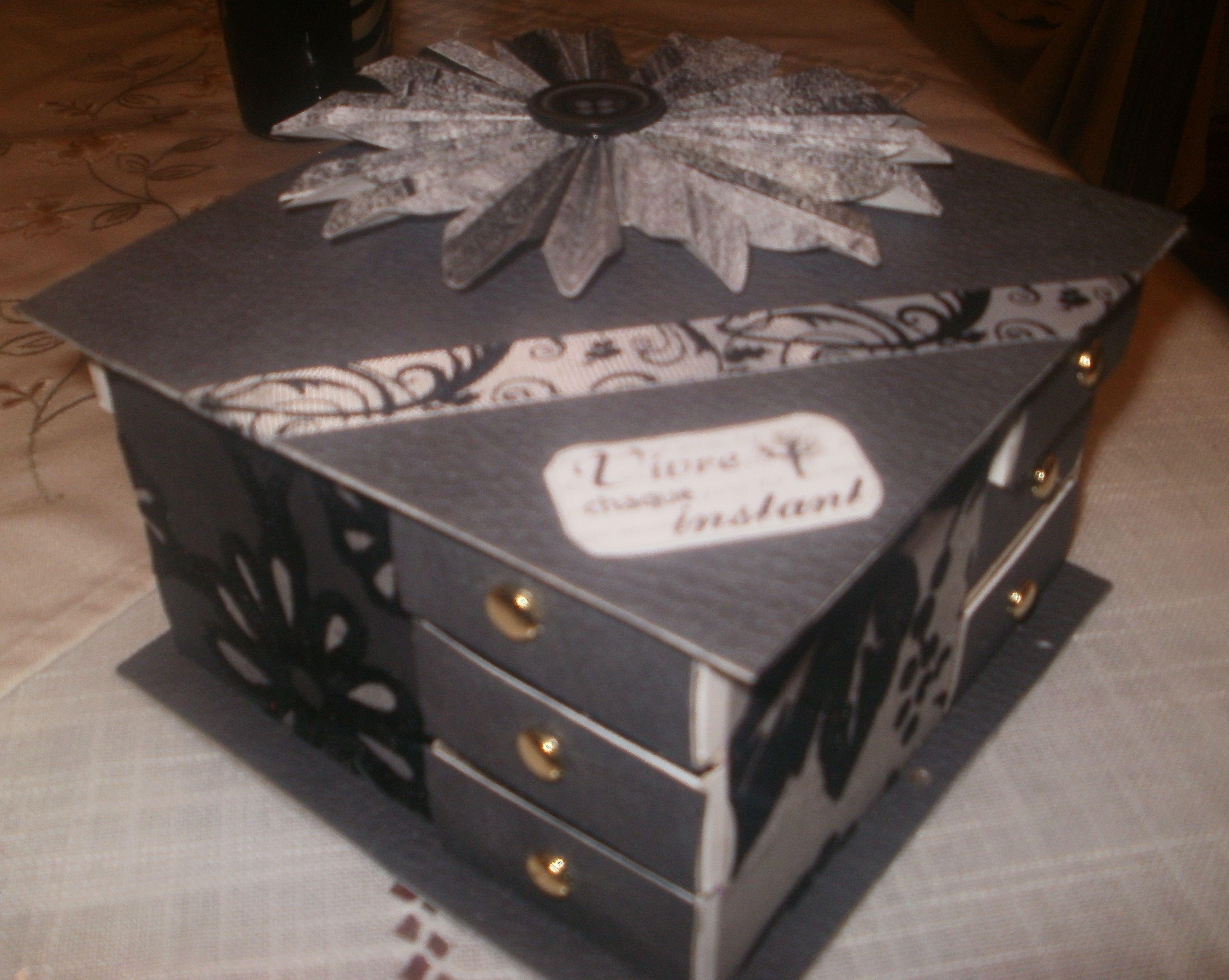 avec qqs boites d 39 allumettes et du jolie papier voici une splendide boite bijoux. Black Bedroom Furniture Sets. Home Design Ideas