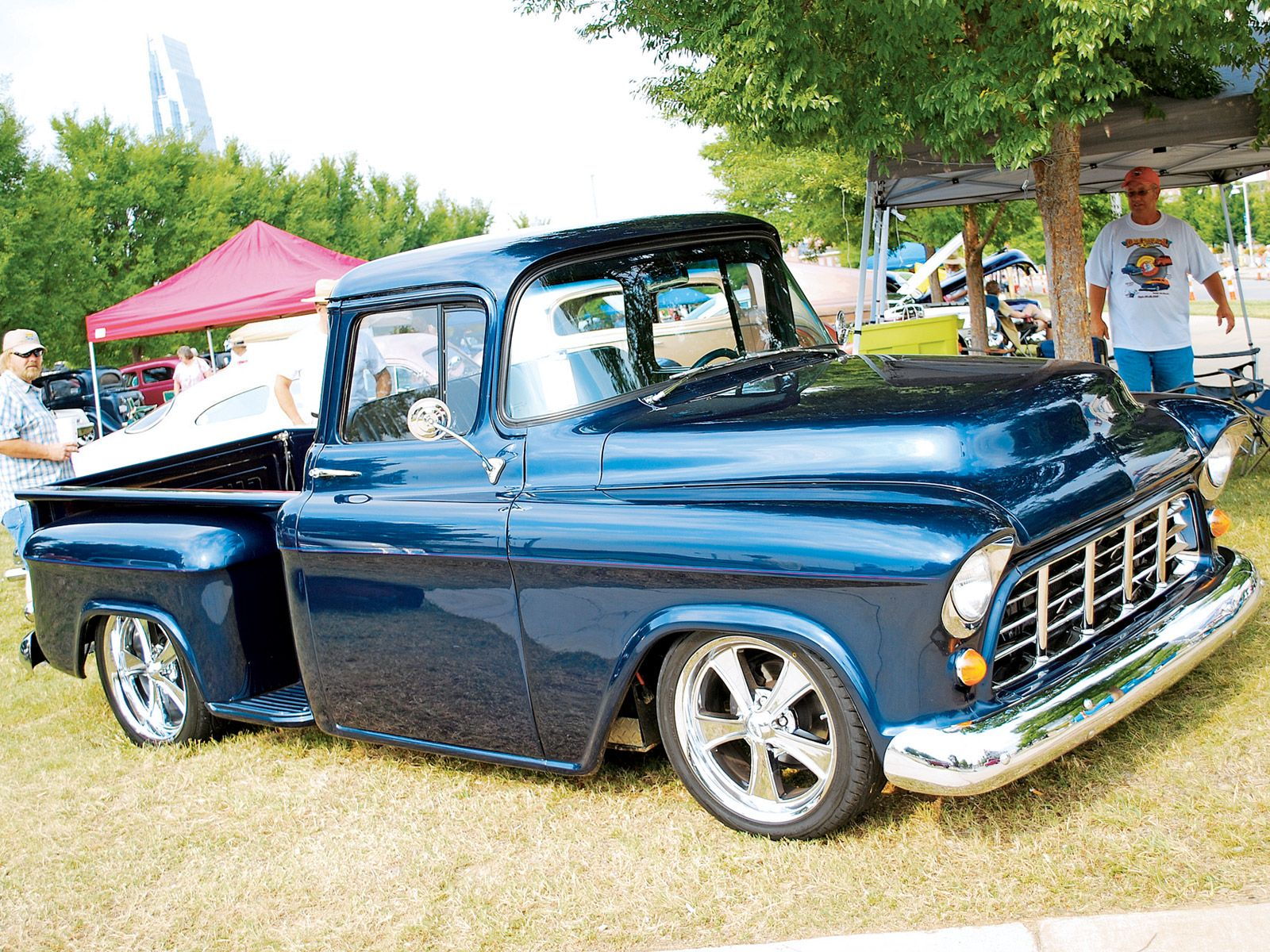 Nice Color With Chrome 55 Chevy Truck Classic Trucks Chevy Trucks