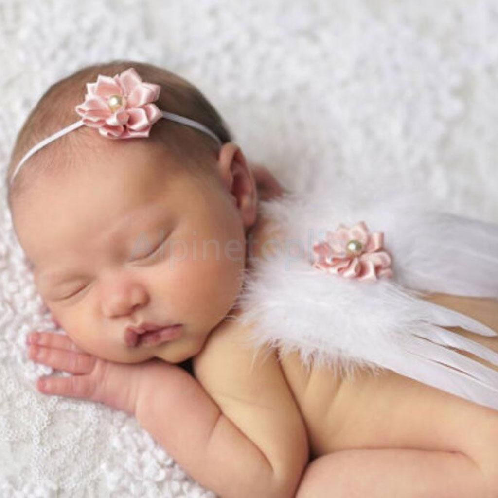 4.05 - Newborn Baby Costume Leaf Headband+Angel Wings Photo Photography  Prop Flower  ebay  Electronics 7af3a852f26
