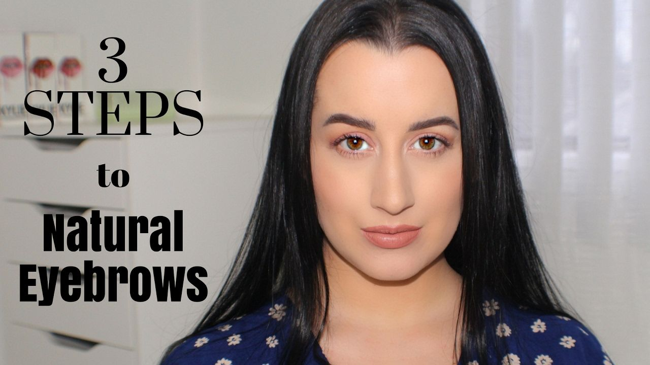 Easy Natural Eyebrow Tutorial | How to draw eyebrows ...