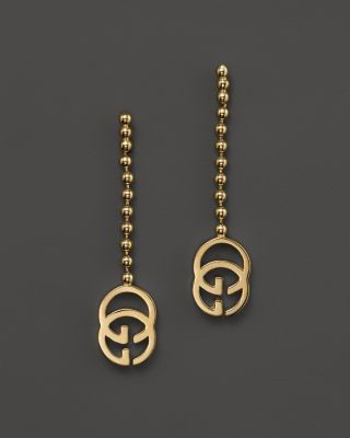 6bca93676df44e Gucci 18K Yellow Gold Running G Earrings   Bloomingdales's   Baubles ...