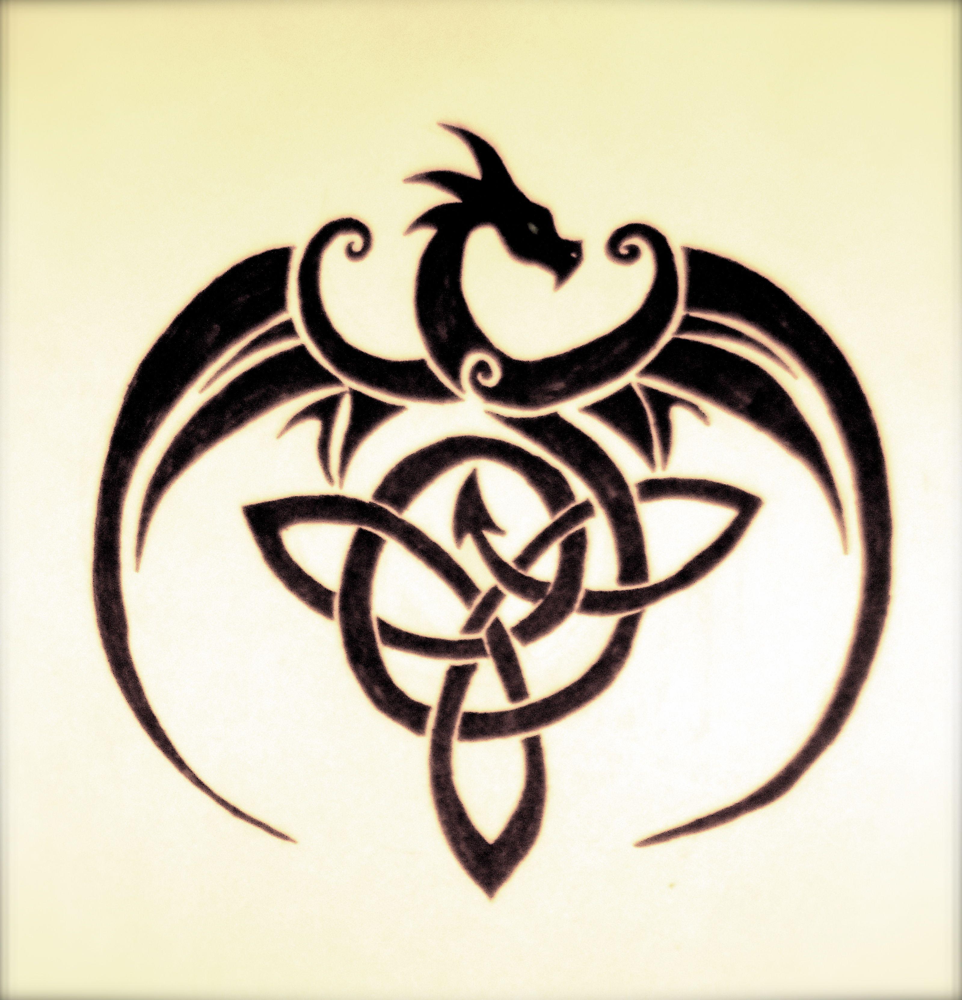 Scottish Dragon Tattoos: Old Art. Celtic Dragon. NOT My Design But Took Me Three