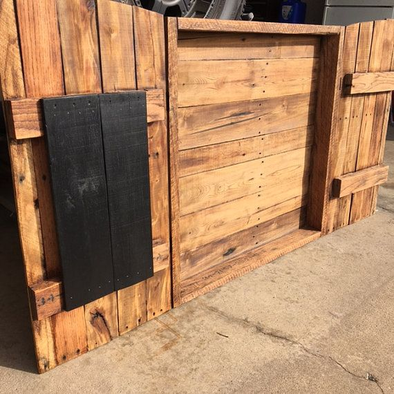 Dart board cabinet (board not included). Made from pallet ...